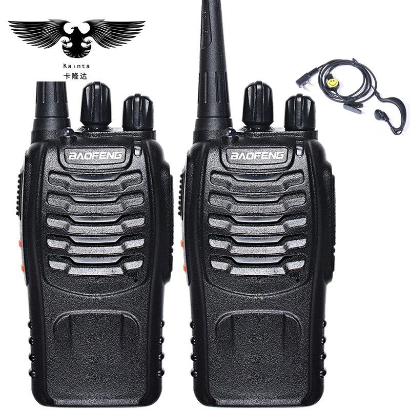 BAOFENG 2 pcs Talkie Walkie Radio BaoFeng BF-888S 5 w Portable Jambon CB Radio à Deux Voies De Poche HF Émetteur-Récepteur Interphone bf-888s