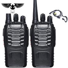 BAOFENG 2pcs Walkie Talkie Radio BaoFeng BF-888S 5W Portable Ham CB Radio Two Way Handheld HF Transceiver Interphone bf-888s