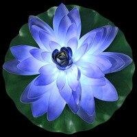 Schöne LED Lotusblütenform Wasserdicht Licht Bunte Garten Hof Teich Brunnen Wasser Schwimmen Nachtlicht Lampen