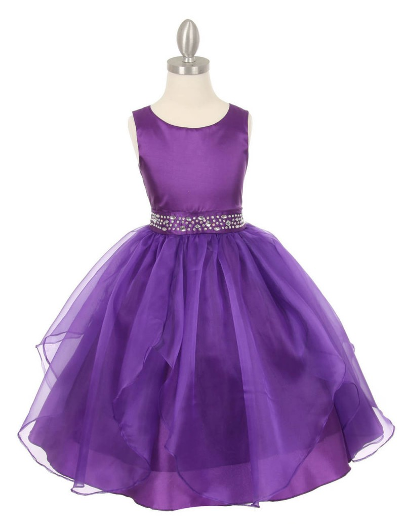 2016 Newest Purple   Flower     Girls     Dresses   With Crystal Sash Accessory   Flower     Girls     Dresses   Lovely Purple Little   Girl   Party Gown
