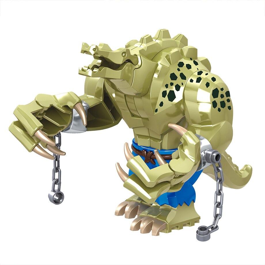 Crocodile Killer Blocks Figure Compatible Duploed Creative Animal Building Blocks Plastic Toys For Children Legoing