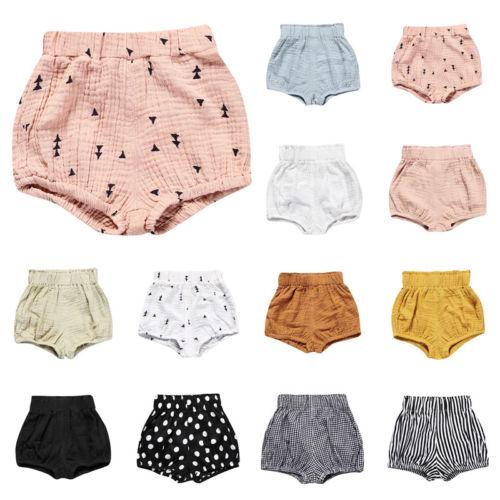 UK Baby Boy Girl Cotton Sport Pants Casual Bottoms Bloomers Panties Shorts