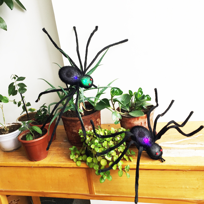 72см Хеллоуїн чорний волосатий павук - Святкові та вечірні предмети