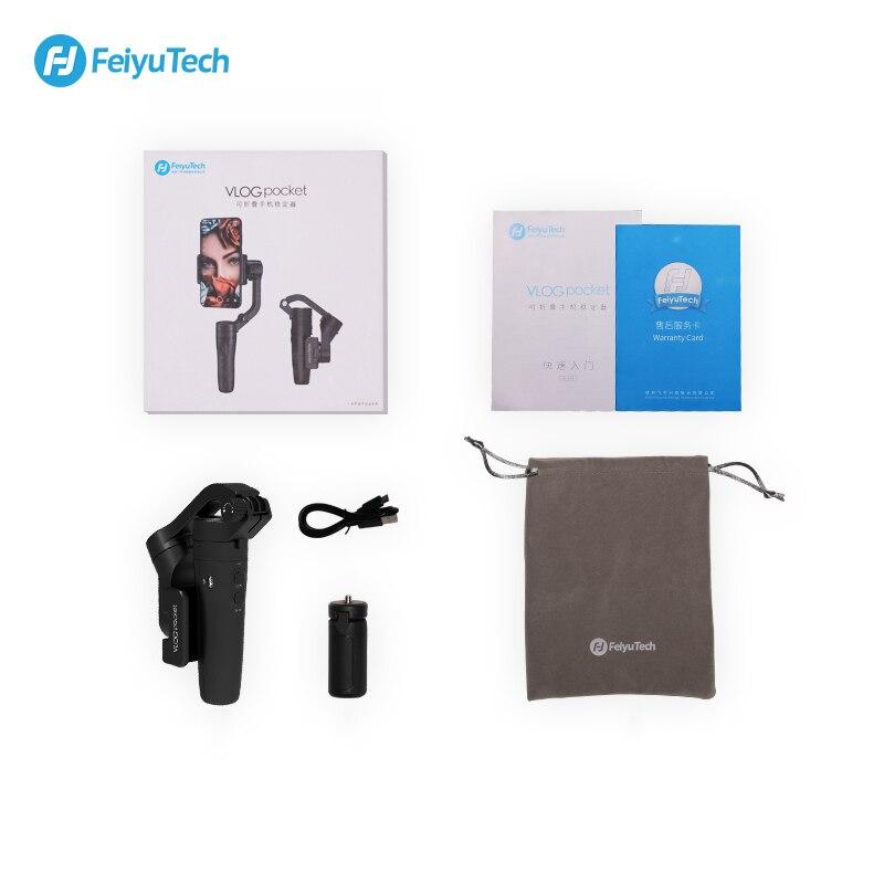 FeiyuTech Vlog Карманный 3 осевой ручной мини телефон Gimbal смартфон стабилизатор для iPhone X 8 7 Plus, HUAWEI P20 MI Samsung Note9 - 6