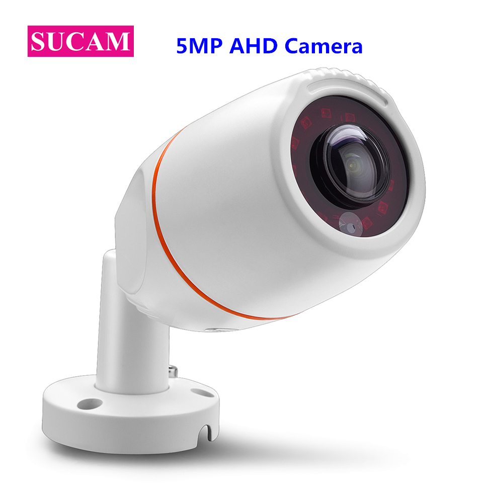 SUCAM 180 Degrees Fisheye 5MP AHD Security Camera Super High Definition Night Vision SONY 326 Waterproof CCTV Camera Outdoor sucam wide angle 5mp ahd security camera outdoor 1 7mm 180 degrees fisheye lens night vision waterproof cctv camera with bracket
