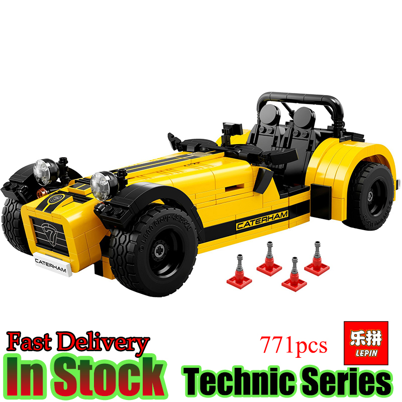 Lepin 21008 Technic 771Pcs The Caterham Classic 620R Racing Car Set Compatible 21307 Model Building Blocks Bricks Toys Gift lepin 20031 technic the jet racing aircraft 42066 building blocks model toys for children compatible with lego gift set kids