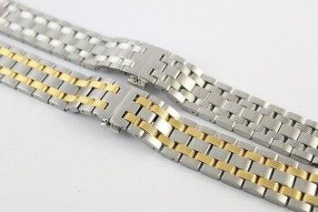 19mm T065430A Neue Uhr Teile Männlichen Soliden edelstahlarmband Zwischen gold bügeluhr Bands Für T065430