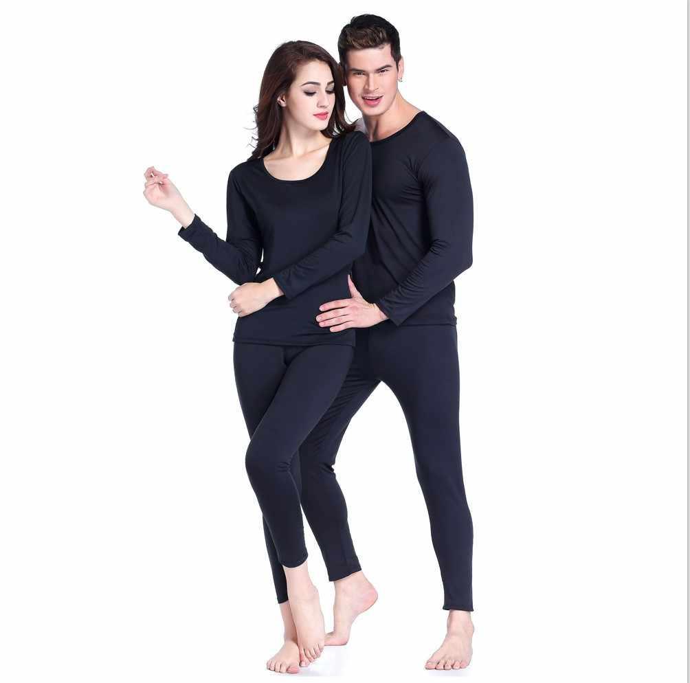 Invierno hombres mujeres de ropa interior térmica de la capa Base de esquí cálido largo Johns Tops camisa de fondo traje de Moto ropa