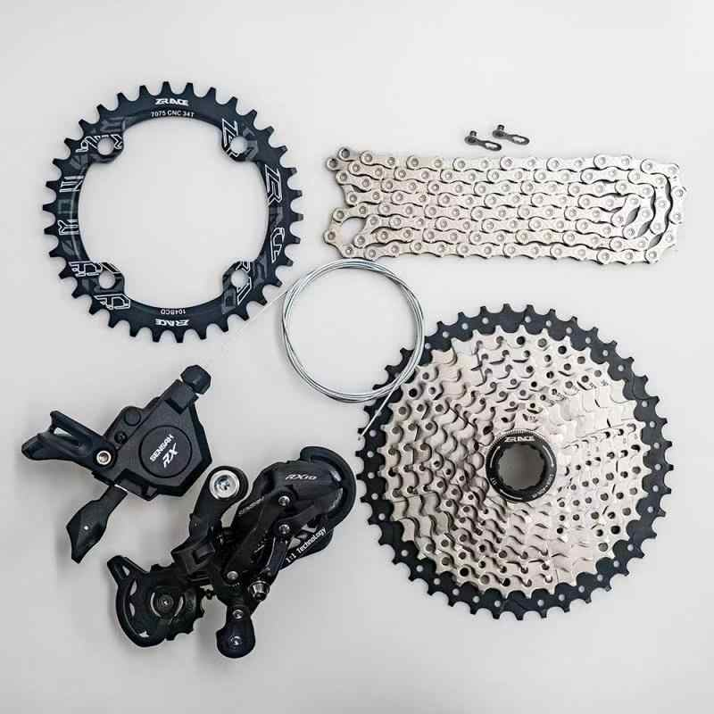 SENSAH MTB Bike RX 10 Speed Shifter + Rear Derailleurs + 42T 46T ZRACE  Cassette + SUMC X10 Chain Group Set, PCR BEYOND M6000