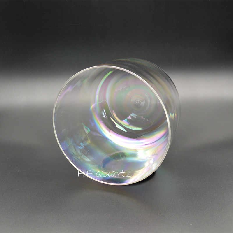 6 polegadas Quartzo Nota C/D/E/F/G/A/B Para Yoga com saco de Cristal Tigela Cantando com Luz Cósmica Personalizável Cósmica
