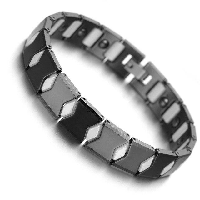 gutes Angebot am besten bewertet neuesten reduzierter Preis US $15.99 |Wolfram Magnetische Hämatit Herren Armband Schwarz Weiß Gesunde  Schmuck B1433 in Wolfram Magnetische Hämatit Herren Armband Schwarz Weiß ...