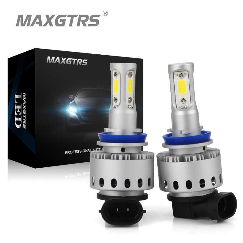2x All in one H4 H7 LED H8 H11 HB3 9005 HB4 9006 Car LED Light COB Chip 90W 12000lm Auto Bulb Headlamp 6000K Headlight Lamp