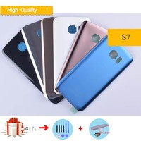 10pcs/lot Back Cover For Samsung Galaxy S7 G930 G930F G930FD S7 Duos   Mobile     Phone     Housing   Rear Case Battery S7 Replacement Parts