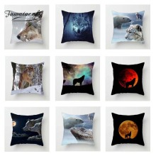 Fuwatacchi Natural Animal Cushion Cover Wolf Dog  Soft Throw Pillow Decorative Sofa Case Pillowcase