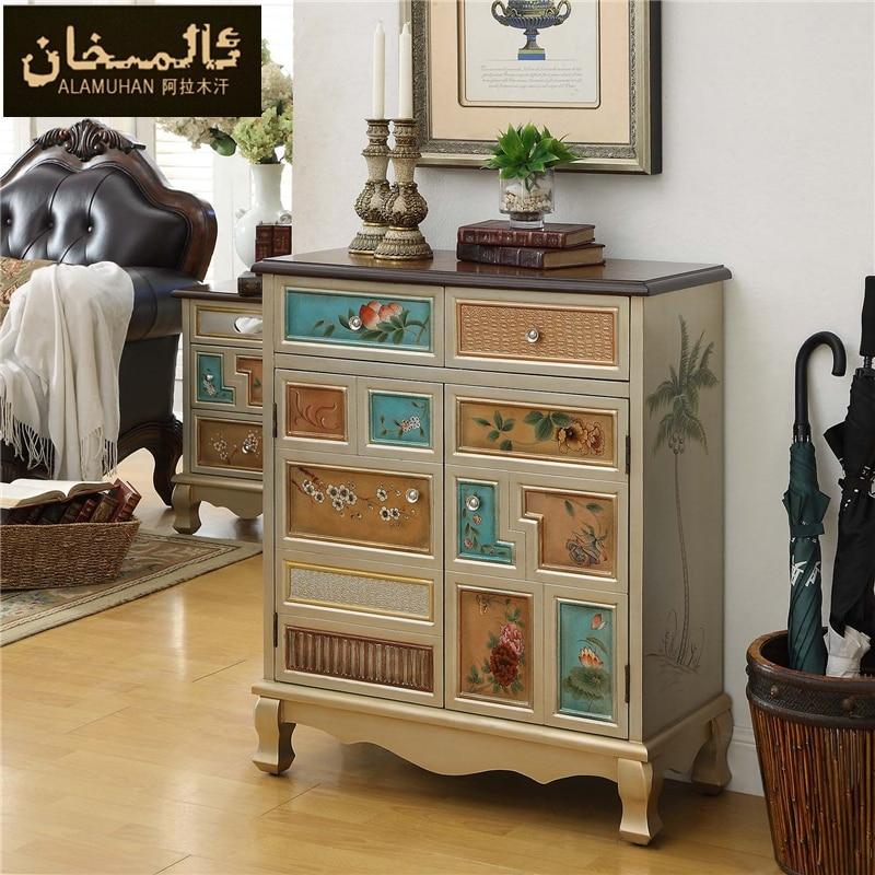 aliexpress.com : buy ems free modern vintage entrance shoe cabinet ... - Wohnzimmer Modern Vintage
