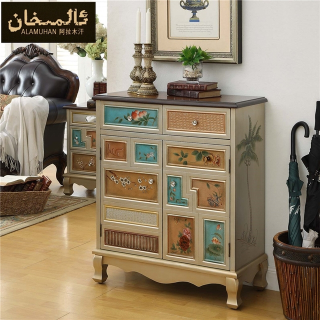 EMS FREE Modern Vintage Entrance Shoe Cabinet Living Room Furniture Side  Shoe Racks Ark