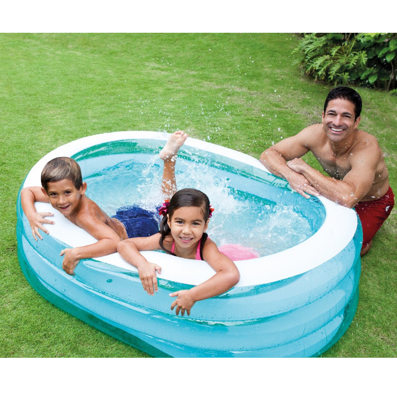 Home Use Large Size Inflatable Square Swimming Water Pool Heat Preservation Children Playground Piscina Bebe Zwembad A198 multi function large size outdoor inflatable swimming water pool with slide home use playground piscina bebe zwembad