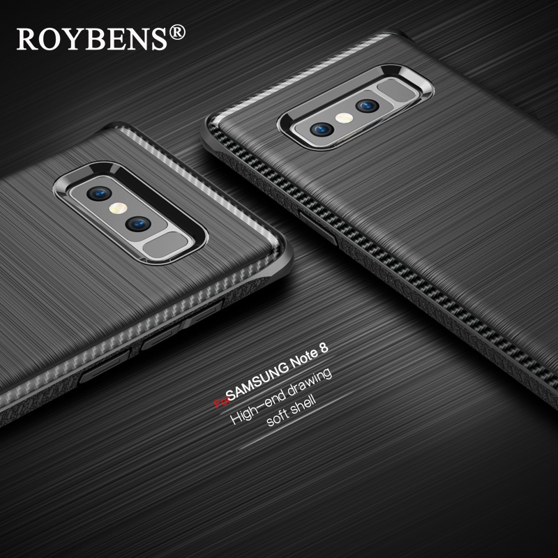 Note 8 Case Roybens Luxury Case For Samsung Galaxy Note 8 Soft Silicone Cover Heavy Duty Slim Matte Hybrid Full Protection Armor