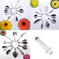 30 PCS SET Flowers Leaves 3D Jelly Art Tools Cake Jello Art Gelatin Tools Pudding Nozzle