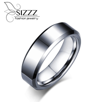 6MM Wide Rock Men Rings Jewelry Pure Tungsten Carbide Engagement Wedding Rings For Men Rings Jewelry