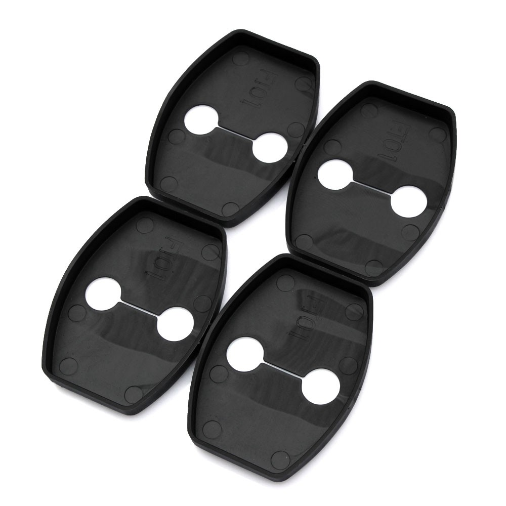 Image 3 - 8pcs Door Lock Cover Stopper For Toyota RAV4 Highlander Kluger Land Cruiser Prado FJ Cruiser Sequoia Tundra Accessories-in Car Stickers from Automobiles & Motorcycles