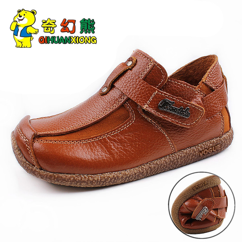 NEW 2018 Children Shoes Top Quality Full Grain Leather Boys Shoes Fashion Sports Casual For Students Size 26-37