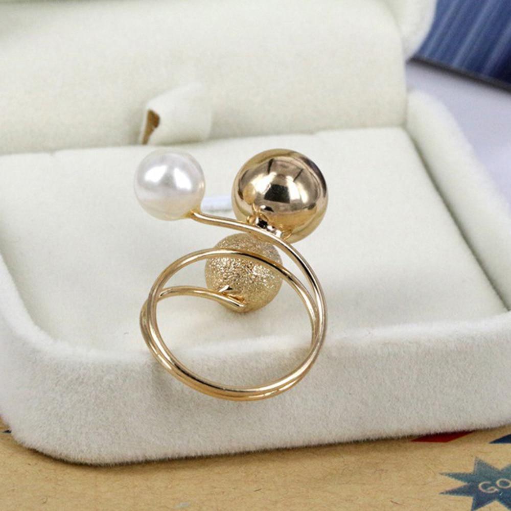 simulated pearl rings
