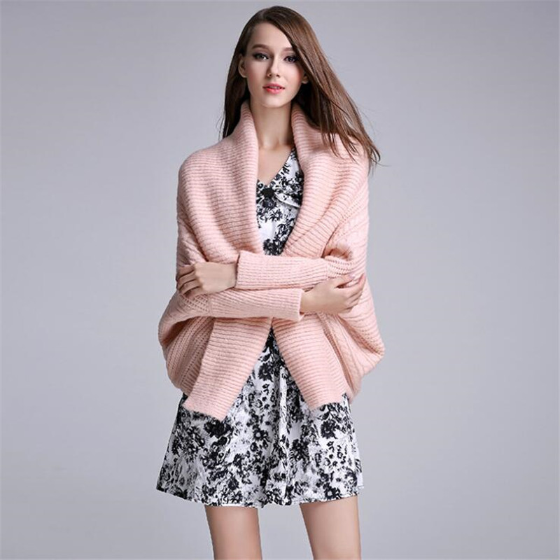 2018 New Fashion Women Sweater Cardigan Autumn Winter Thick Outerwear Pink European and American Style Casual Outwear A3753 ...