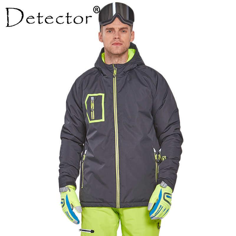 検出器男性ハイキングキャンプサイクリングジャケット防水防風サーマルコート雪のジャケットの男性の冬服
