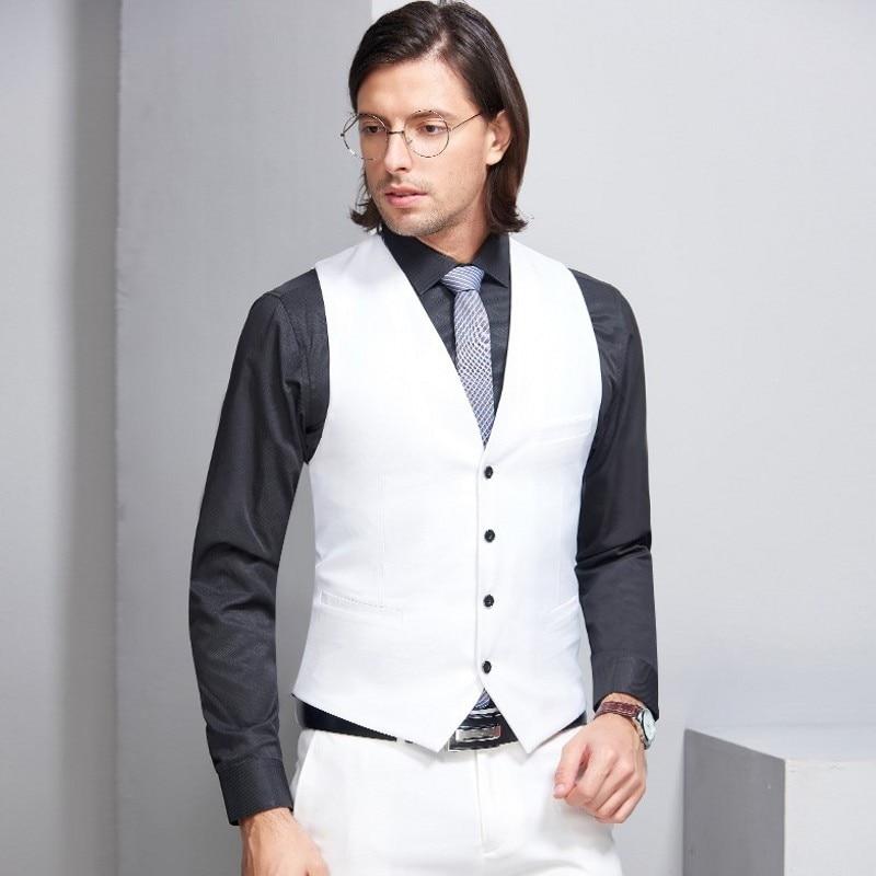 Gewijd Peorchid 2019 Man Trouwpak Vest Beste Man Gift Bruidegom Wit Heren Vest Britse Stijl Groen/grijs/ Paars Tuxedo Vest