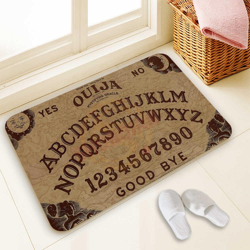 Venta caliente personalizado Ouija tablero estera diseño de arte diseño impreso alfombra piso salón dormitorio almohadilla fresca alfombra de moda 40 60 cm x 60 cm