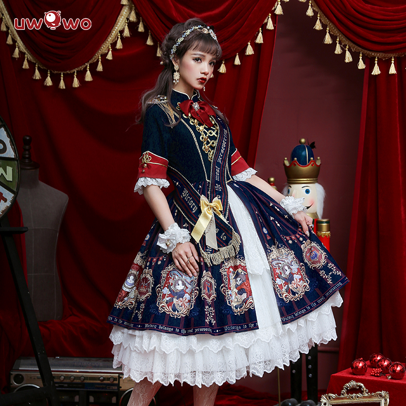 UWOWO Original Design Coronation Of 18 Brumaire OP Dress Women Lolita Dress Cosplay Costume Women Cosplay Costume