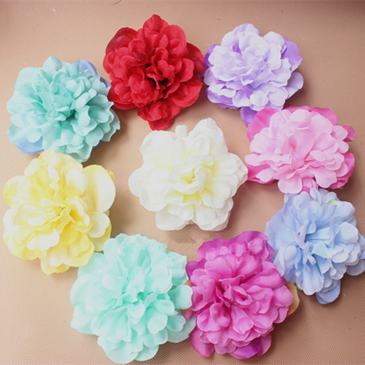 10cm artificial peony flower heads simulation flowers silk for Flower heads for crafts