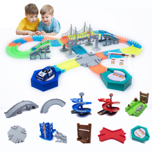 Magical Track Funny Glowing Race Track Glow In The Dark Racing Car DIY Track Accessories Gifts Educational Toys For Children Boy
