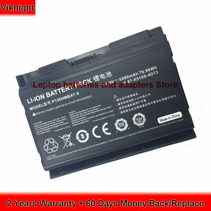 Clevo P150EM P150HM P150HMX P151SM1 6-87-X510S-4D72 6-87-X510S-4D73 X510S Laptop Battery Clevo P150HMBAT-8 проводные наушники marley positive vibration em jh011 sm grey