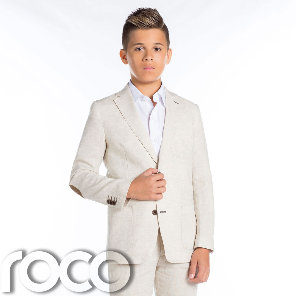 Boys Linen Suit, Wedding /Beige / Linen suit, Boys Suits Custom ...