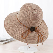abaac8fd610 HT1641 2018 New Fashion Panama Bucket Hats for Women Foldable Solid Ladies  Wide Brim Hats Korea Style Elegant Beach Sun Hats Cap