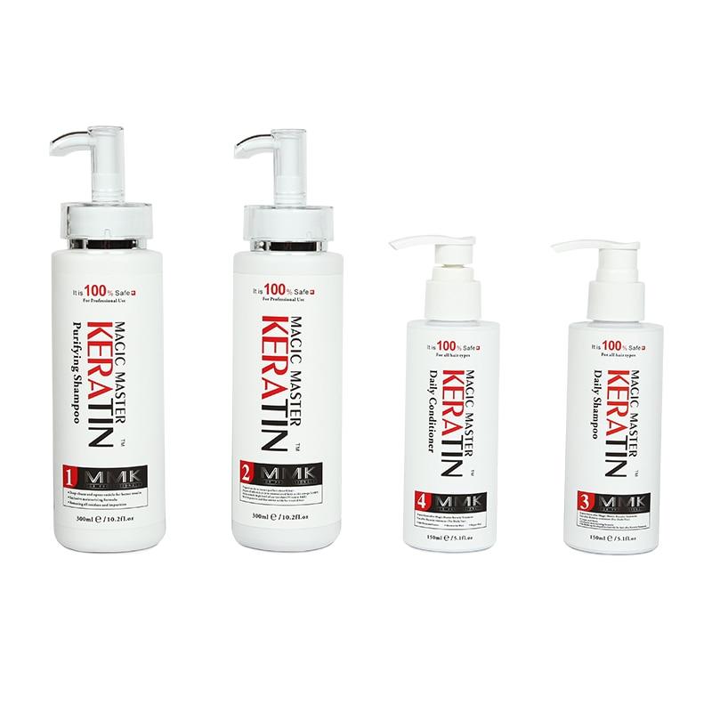 300ml Without Formalin Brazilian Magic Master Keratin Treatment+Purifying Shampoo+Daliy Shampoo and Conditioner Hair Treatment
