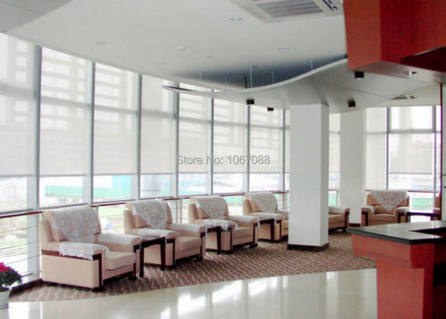 Rolgordijnen Slaapkamer 65 : Doorschijnend zon scherm rolgordijnen in wit polyester pvc