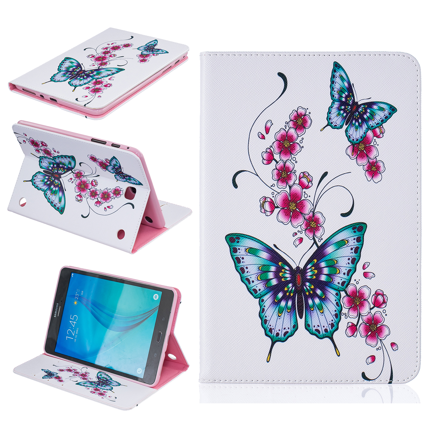 For Samsung Galaxy Tab A T580 T585 SM-T580 T585N Flip Stand PU Leather Cover Case For Samsung Tab T280 T377 T350 T550 T560 T815