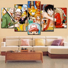 One Piece The straw hat Pirates HD Print Painting Wall Art Canvas Modern Home Decor Picture Printed Anime Poster