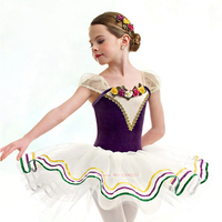 Ballet Dance Skirt New Summer Stage Classical Ballet Tutu Elegant Purple Swan Lake Dance Dress Children Leotard Tutu