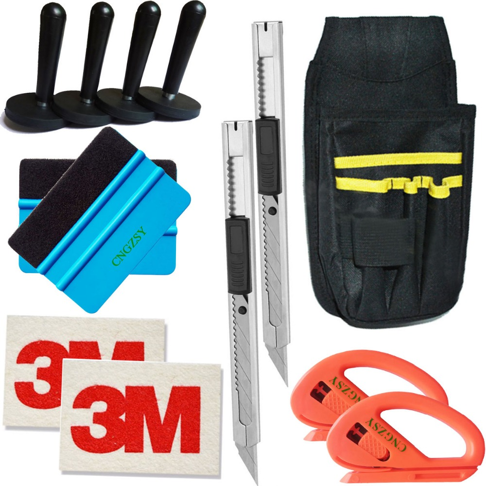 Aimant titulaire 3 M laine art couteau outils sac cutter Bulle Fenêtre Wrap Film Raclette Grattoir Voiture Style Autocollant Accessoires K22