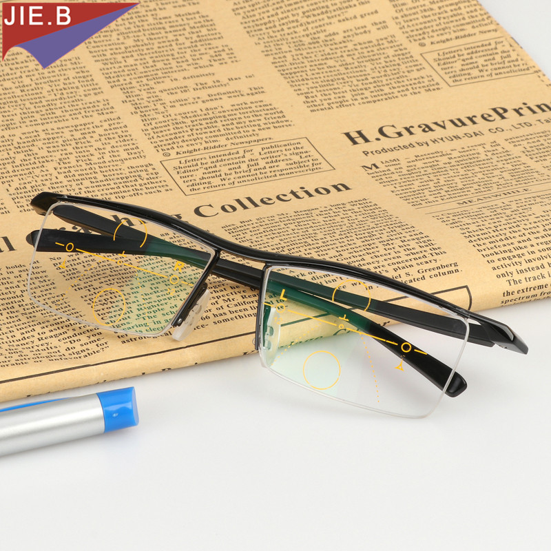 2071a75b0f 2018 Titanium Alloy Eyeglasses Men Smart Zoom Asymptotically Multi focal  Progressive Reading Glasses High Quality Presbyopia Hy-in Reading Glasses  from ...
