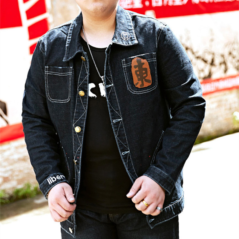 Abbigliamento Jeans Vestiti Del Sottile Mens Tuta Black Primavera Casual  Giacche Autunno Uomini Uomo E Denim Dei 8xl Top Sportiva Giacca Cappotto ... b98c23802a4