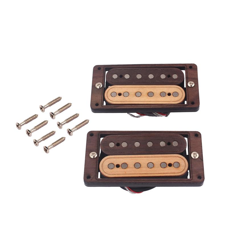Maple Wood 6 string Humbucker Pickups for Electric Guitar Replacement Parts Accessory