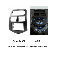 Double Din Fascia for CHEVROLET Spark M300 Radio Frame GPS DVD Stereo CD Panel Dash Mount Installation Trim Kit