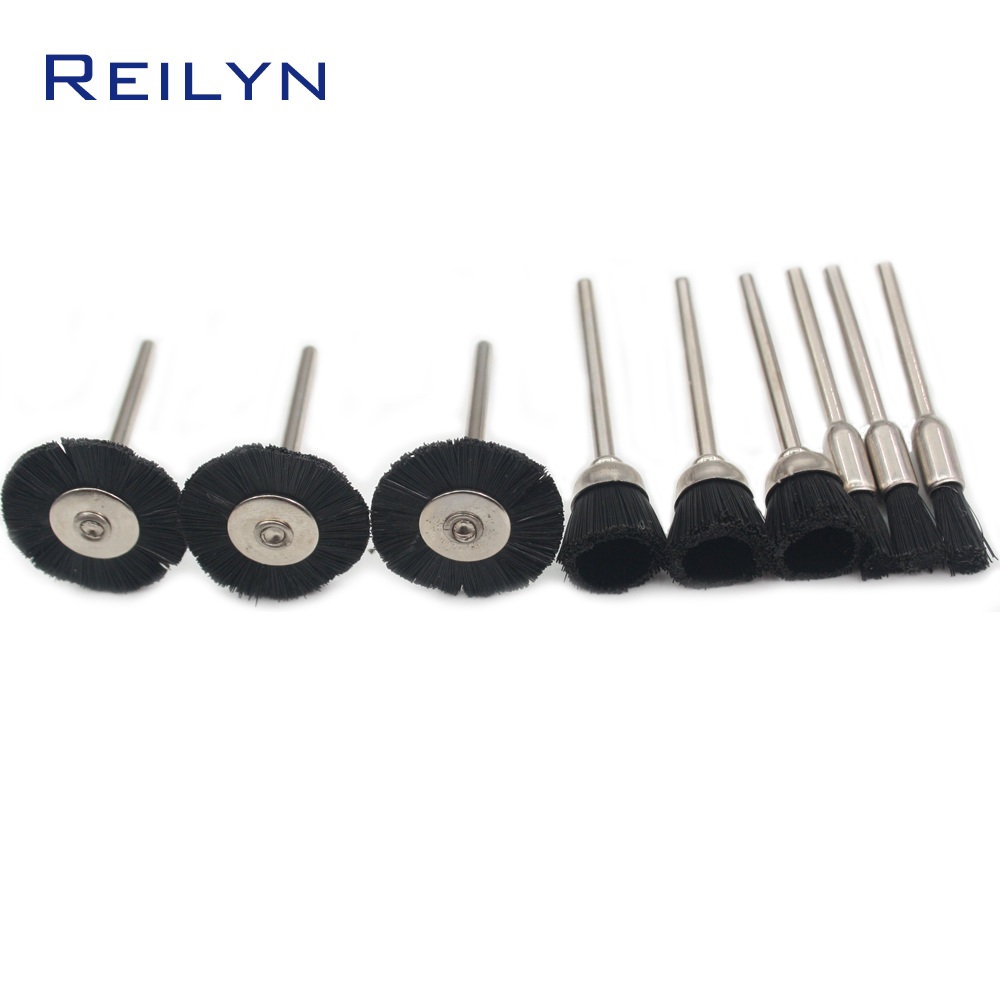 Nylon Polishing Brush Polishing Head Polishing Wheel Shank 3mm Plastic Fiber Brush Roller For Electric Grinder Or Rotary Tool