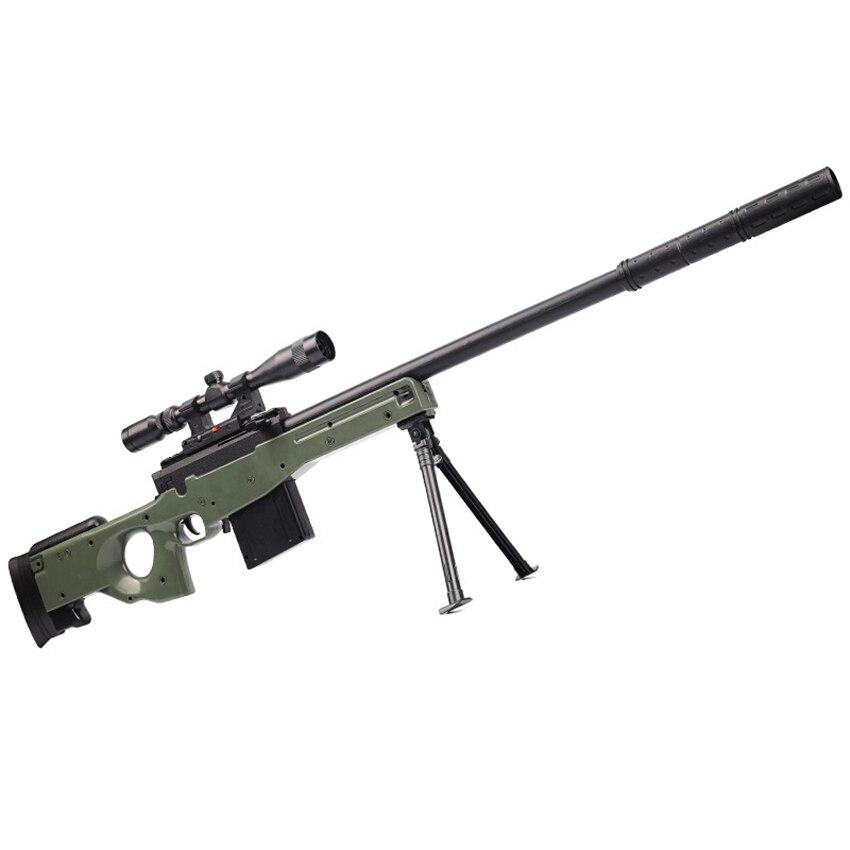 Eva2king manuel AWM jouet fusil pistolets Silah doux cristal balles Orbeez jouets fusil de Sniper pour les enfants jouant à l'extérieur des jeux cadeaux
