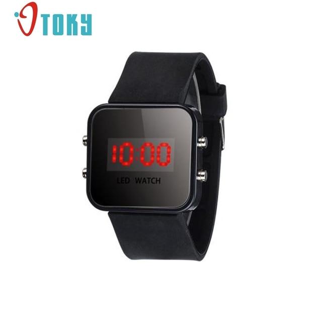 OTOKY LED Screen Digital Silicone Strap Girl Boy Sport Kids Wrist Watch relogio